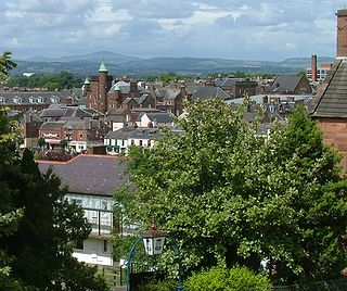Dumfries town in Scotland