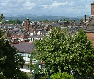 Dumfries - Image: Dumfries looking east