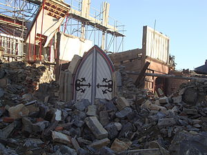 Durham Street Methodist Church after demolition.