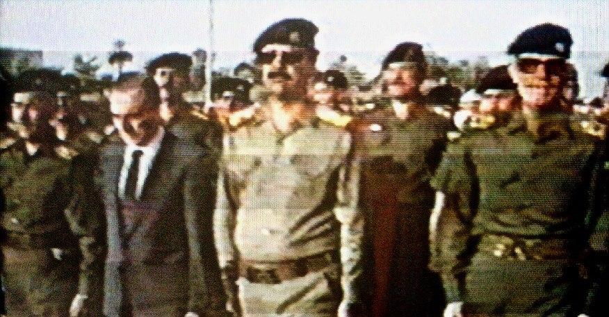 Duri, Hussein, Aysami and Ramadhan during Aflaq funeral