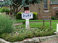Dury (Pas-de-Calais) - Panneau d'entrée.JPG