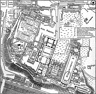 Palatine Hill - Plan of the Palatine