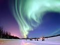 EIELSON AIR FORCE BASE, Alaska -- The Aurora Borealis above Bear Lake.jpg