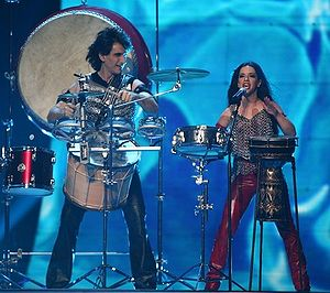 Bulgaria in the Eurovision Song Contest - Image: ESC 2007 Elitsa Todorova Stovan Yankulov