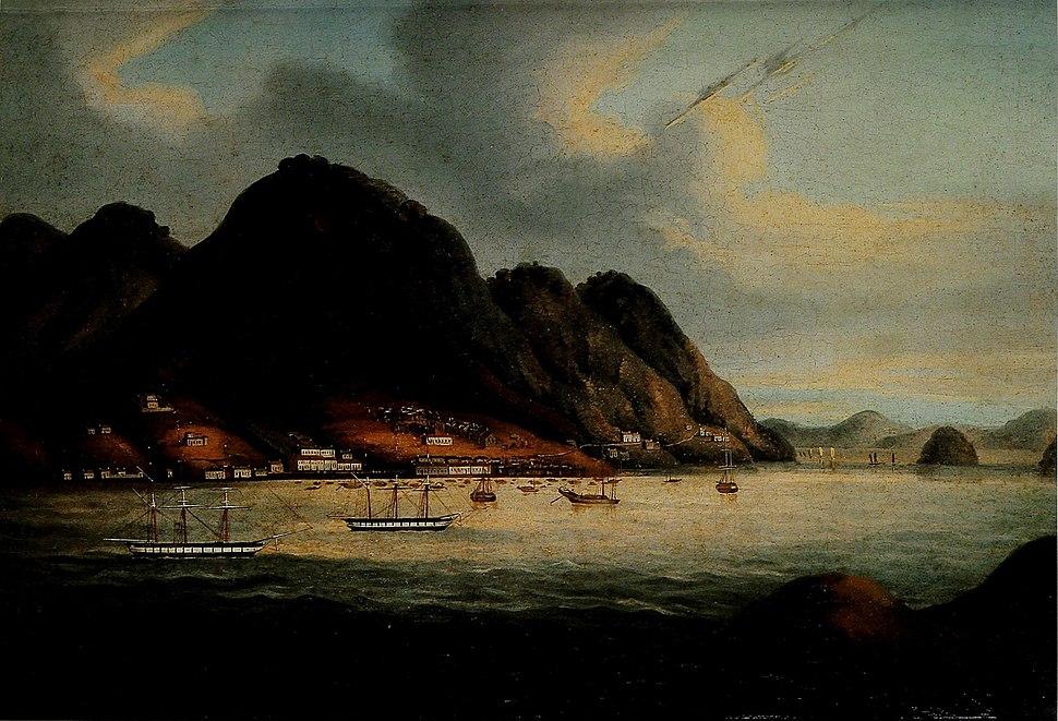 Early painting of Hong Kong Island