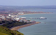Eastbourne from the South Downs - geograph.org.uk - 1297439.jpg