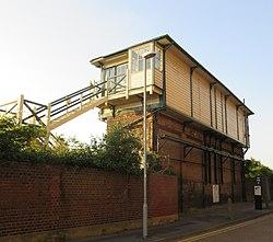 Eastbourne signal box, Junction Road, Eastbourne (NHLE Code 1413815) (June 2015) (2).JPG
