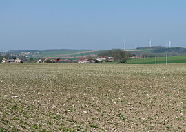 General view of the village and wind farm