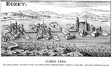 Four fortresses connected with a bridge to each other in a marschland