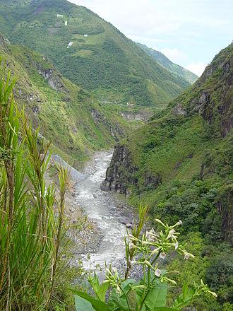 Morona-Santiago Province - Pastazas river near Baños