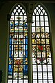 Edam - Grote Kerk - View East on Stained Glass Window Donated by the City of Amsterdam.jpg