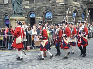 Porteous Riots - Re-enactors dressed as the Edinburgh City Guard at the time of the Porteous Riot