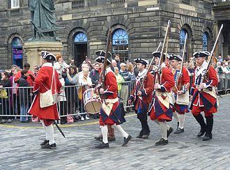 Porteous Riots - Re-enactors dressed as the Edinburgh City Guard at the time of the Porteous Riot
