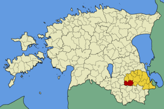 Kanepi Parish - Image: Eesti kanepi vald