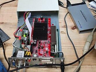 Efika - EFIKA 2.3 and ATI Radeon 9250 with 256 MB of 128-bit RAM in 2008