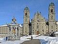 Einsiedeln - Kloster und Marienbrunnen - Marienplatz 2013-01-26 15-04-17 (P7700).JPG