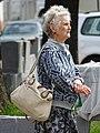 Elderly Woman at Bus Stop - Vitebsk - Belarus (27667147725).jpg