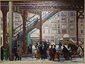 Elevated, Columbus Avenue, New York, by Gifford Beal, 1916, oil on canvas - New Britain Museum of American Art - DSC09612.JPG