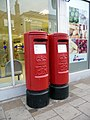 Elizabeth II Pillar Boxes, Regent Street, Shanklin, Isle of Wight - geograph.org.uk - 1710728.jpg