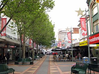 North Hobart, Tasmania - Elizabeth Street, consisting of the commercial and mall areas of North Hobart.