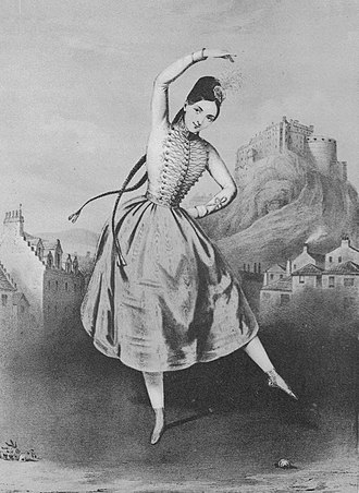 Fanny Elssler - Fanny Elssler as Sarah Campbell in the ballet 'La Gypsy', performed at Her Majesty's Theatre in London in 1839