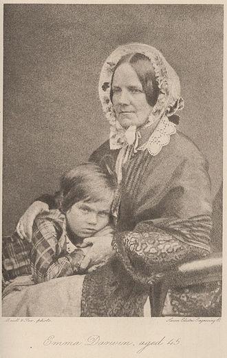 Emma Darwin - Emma with son Leonard, 1853
