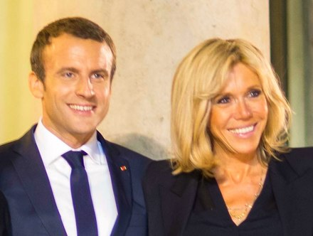 Emmanuel et Brigitte Macron (cropped)