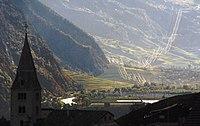 En aval de Savièse vers l'Ouest en automne Valais-Suisse.JPG