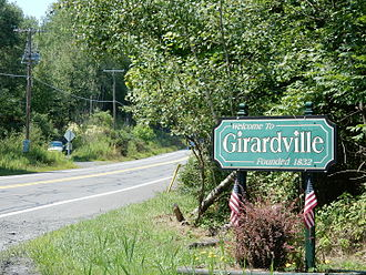 Girardville, Pennsylvania - Road to Girardville.