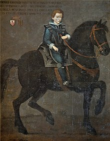 Ercole Grimaldi (Marquis of Baux) hier of Prince Honoré II of Monaco by unknown artist.jpg