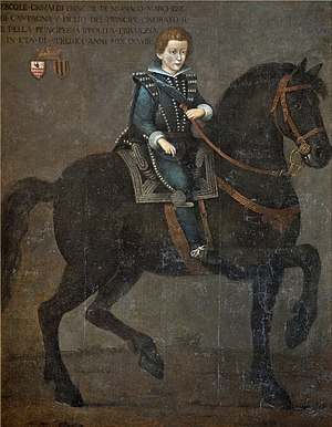Ercole, Marquis of Baux - Image: Ercole Grimaldi (Marquis of Baux) hier of Prince Honoré II of Monaco by unknown artist