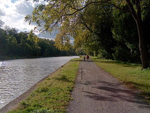 New York State Canal System - Present-day Erie Canal near Bushnell's Basin, southeast of Rochester, New York
