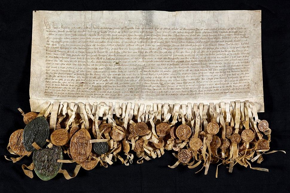 Erik af Pommerns kroningsbrev (fladt foto)