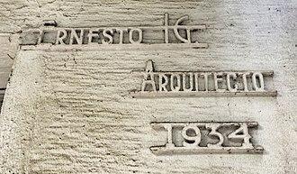 Ernesto Buenrostro - Nameplate (missing last name) on Roxy Building, Avenida Mexico 33, Hipodromo, Condesa