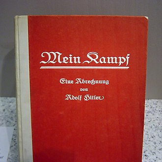 Nazi Party - Mein Kampf in its first edition cover