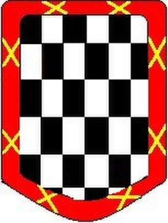 Álvaro de Bazán, 2nd Marquis of Santa Cruz - Coat of Arms of the Marquisses of Bazán, title awarded by King Philip II of Spain on 11 October 1569