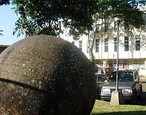 Stone spheres of Costa Rica - Pre-Columbian stone sphere, located at the University of Costa Rica as a symbol of tradition and ancient wisdom.