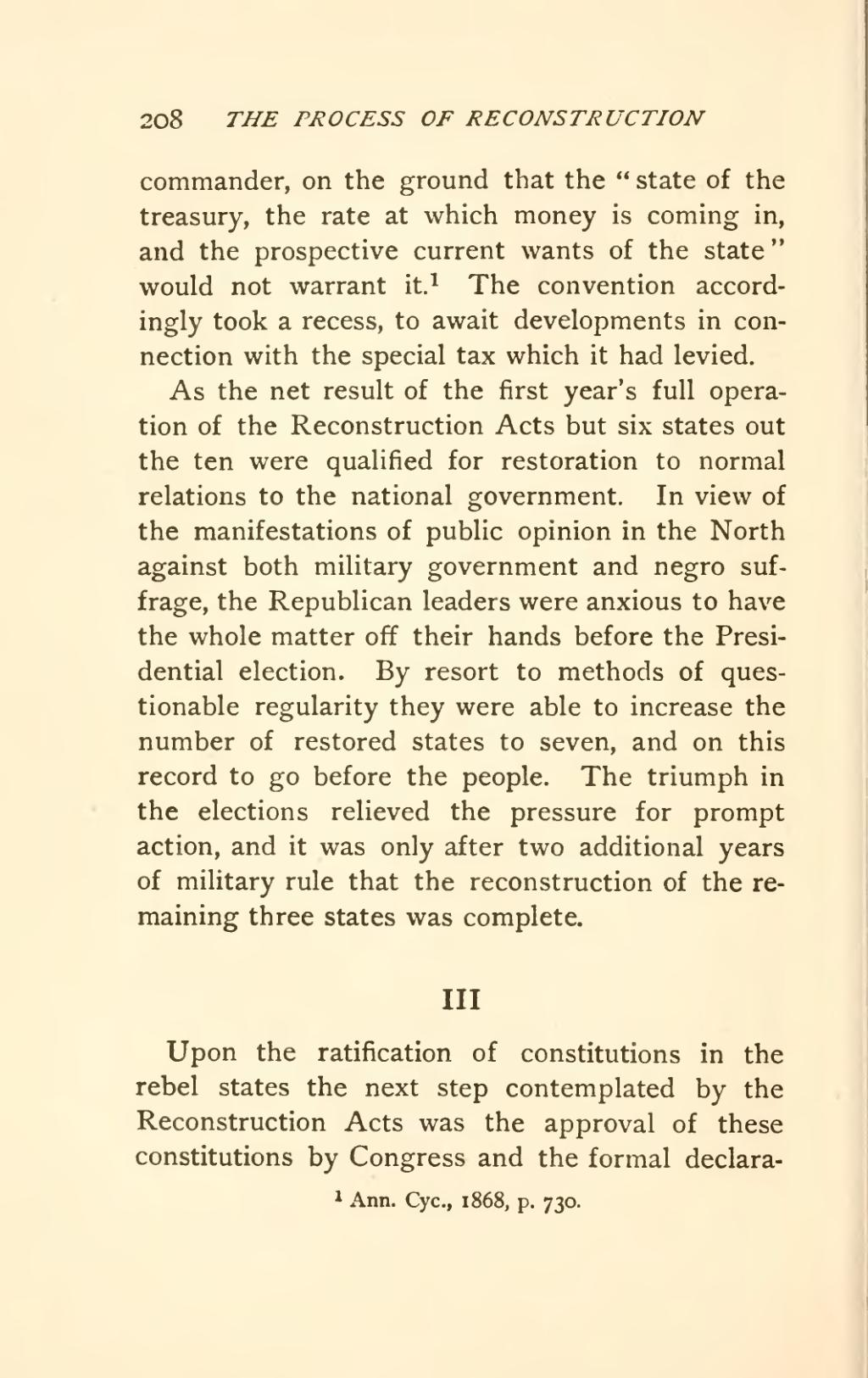essay on why the reconstruction failed