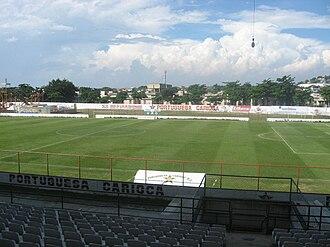 Estádio Luso Brasileiro - Stadium view before renovations.