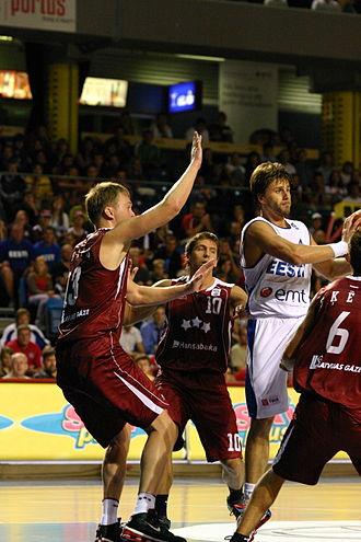 Latvia national basketball team - Estonia-Latvia game in 2006