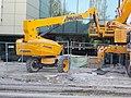 Etele Pláza építkezés, Prangl vontatható emelőkosár, 2020 Kelenföld.jpg