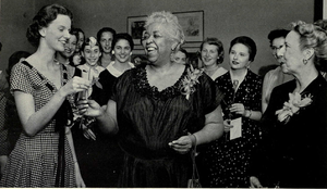 Ethel Waters - Waters being inducted into Zeta Phi Eta at the University of Michigan, 1957.
