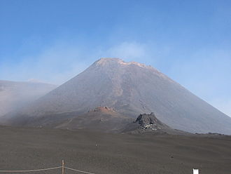 Stratovolcano - Mount Etna on the island of Sicily, in Italy.