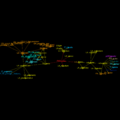 EtymTreeGraph paw-pudeo-pudetNL fillcolor Comm (Gephi original colour BBack2source).png
