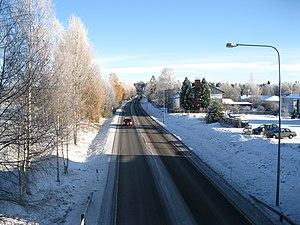 European route E63 - Image: Eurooppatie E63 Kajaani 2017