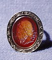 European - Ring with Intaglio Showing Head of Asclepius - Walters 421108.jpg