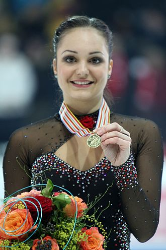 2011 European Figure Skating Championships - Ladies' champion Sarah Meier poses with her medal.
