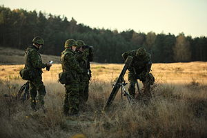 Estonian Defence League - Defence League´s mortar platoon in NATO exercise Steadfast Jazz 2013.