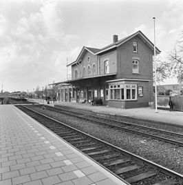 Station Goor, perronzijde in 1988