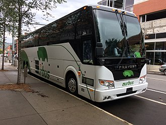 OurBus - OurBus picking up passengers in Ithaca, NY